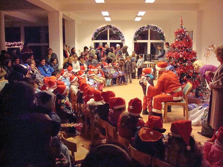 Weihnachtsfest mit Weihnachtsmann