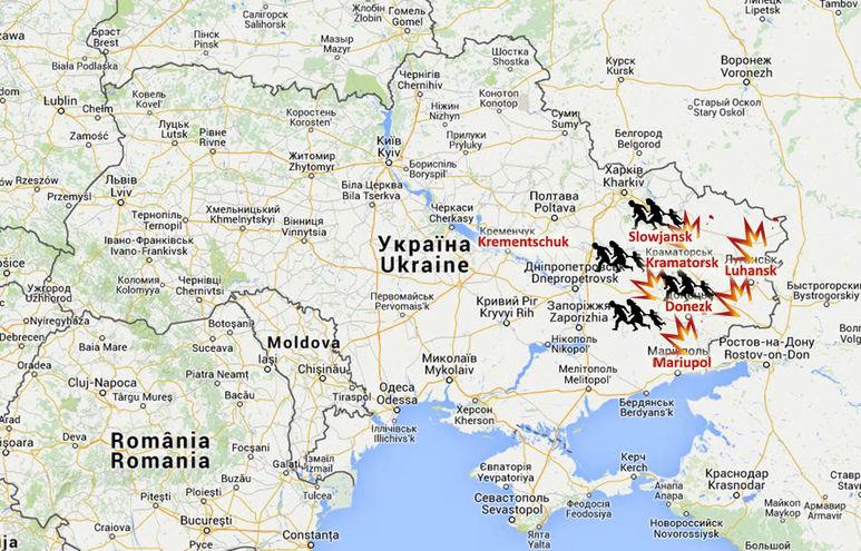 Karte mit der Region Krementschuk