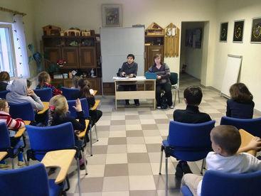Schulklasse beim Lernen