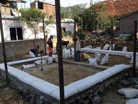 Grundaufbau für ein Wellblechhaus