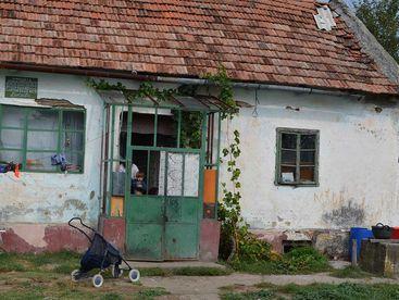 Haus einer hilfsbedürftigen Familie