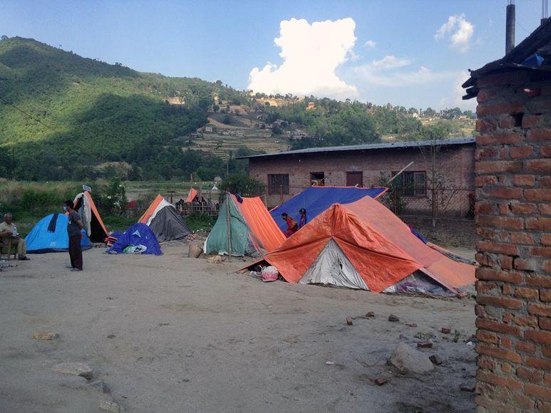 Zelte werden aufgestellt