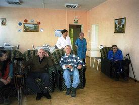 Betagte Personen im Pflegeheim