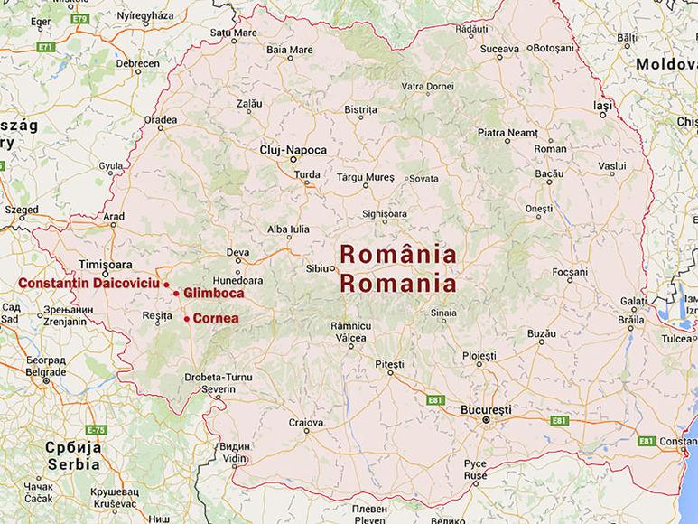 Landkarte von Rumänien