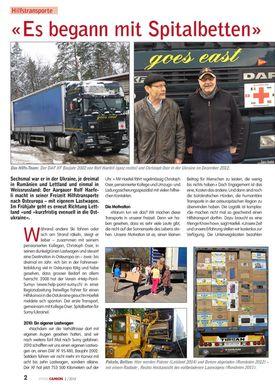 Abbildung des Artikels im Swiss Camion