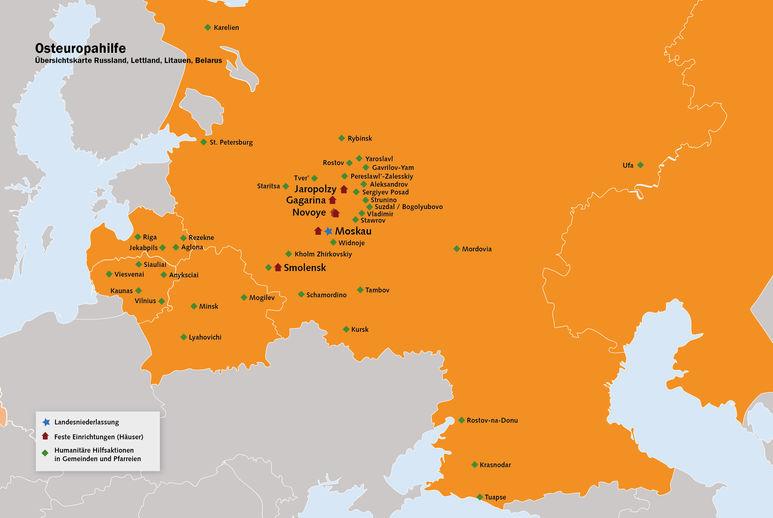 Übersichtskarte Russland