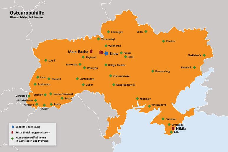 Übersichtskarte Ukraine