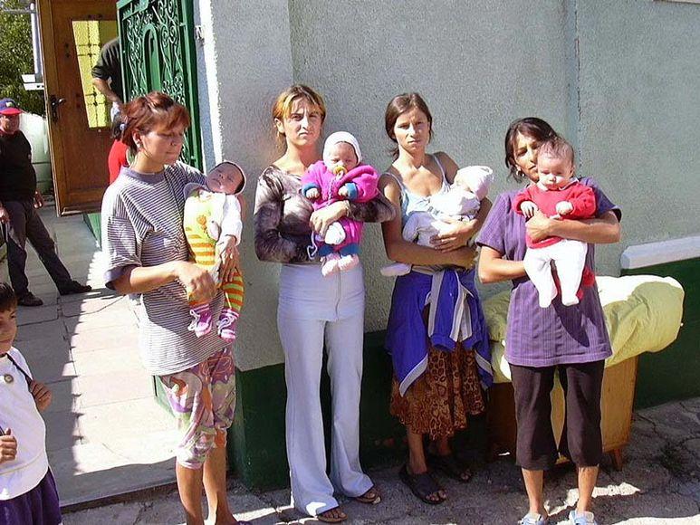 Mütter mit ihren Kindern