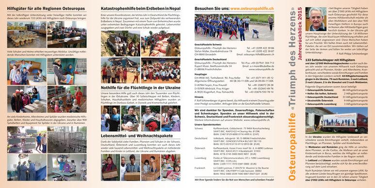 Abbildung des Jahresberichts 2015