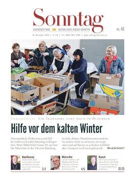 """Abbildung des Artikels aus """"Sonntag"""" der Kirchenzeitung der kath. Kärnten"""
