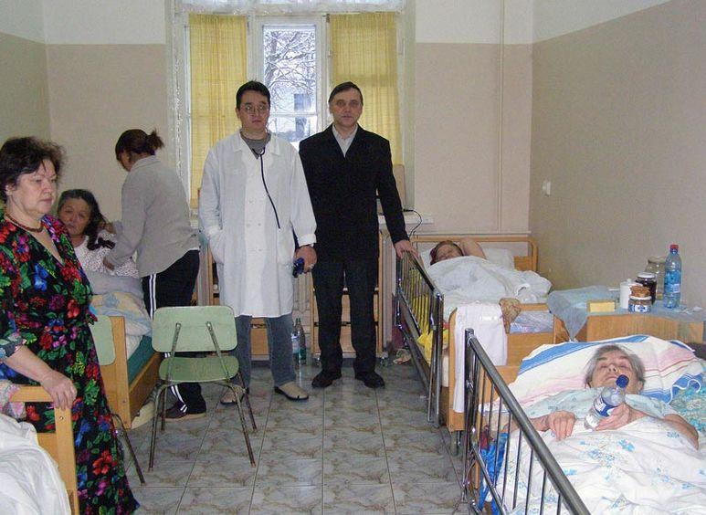 Spitalzimmer mit Patienten