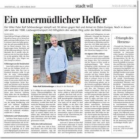 Abbildung des Berichtes im Wiler Tagblatt