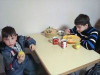 Kinder in der Kindertagesstätte in Kiew
