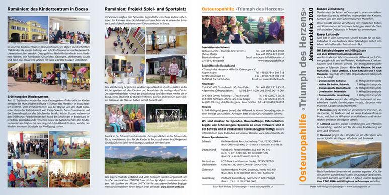 Abbildung des Jahresberichts 2010