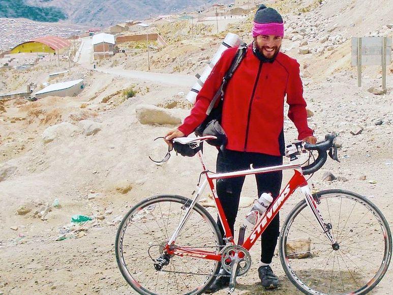 Helmut Pucher unterwegs mit seinem Rennrad