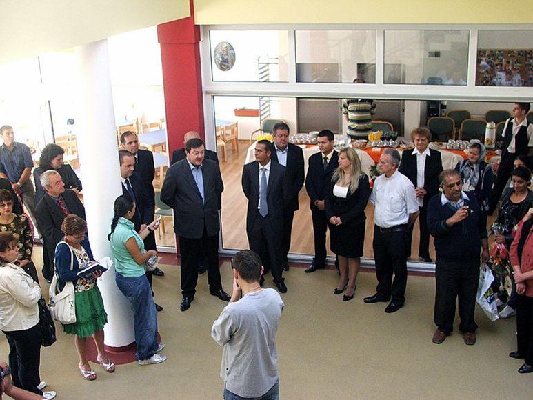 Ratspräsident und Gäste
