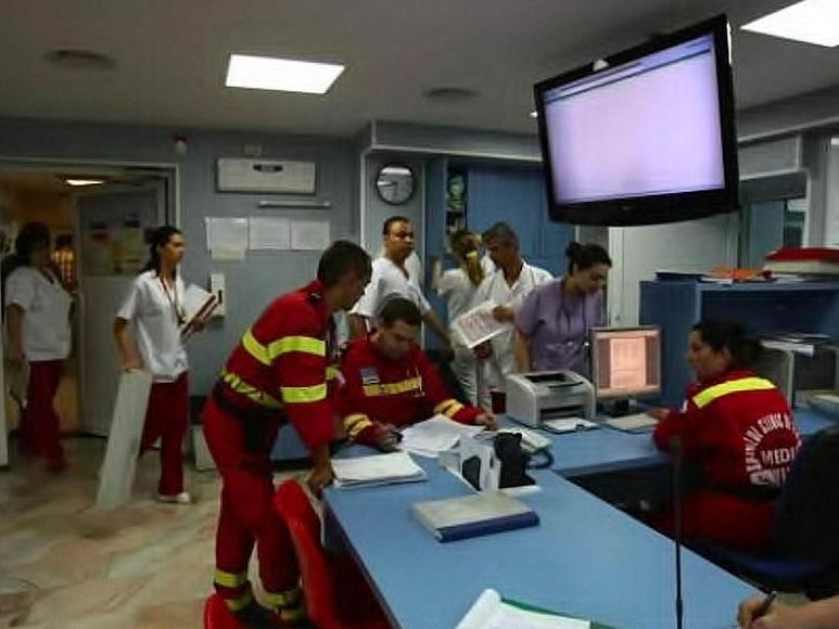 Die Einsatzzentrale des Notfalldienstes in Reşita