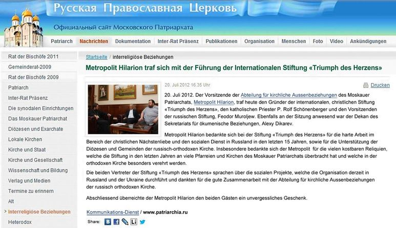Abbildung der Übersetzung der Webseite