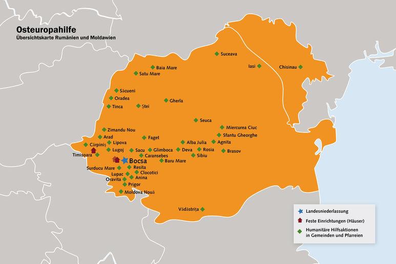 Übersichtskarte Rumänien
