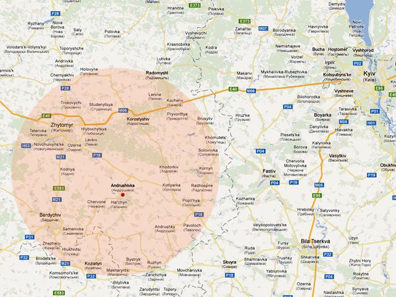 Karte der Region Zhytomir