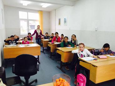 Schulklasse beim Nachhilfeunterricht