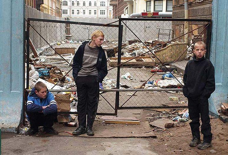 Strassenkinder in Moskau