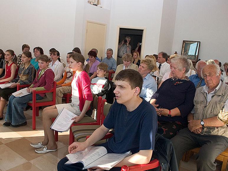 Besucher eines Vortrags