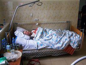 Krankenbett im Altersheim