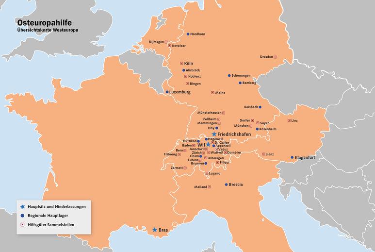 Karte von Westeuropa