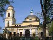 Orthodoxe Kirche des Miusskaya Friedhofs in Moskau