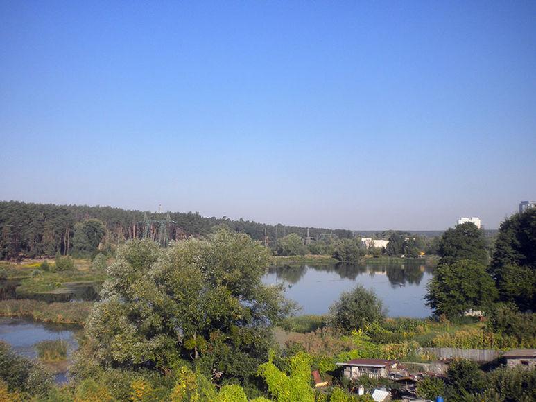 Blick aus dem Fenster des Kinderzentrums in Kiew