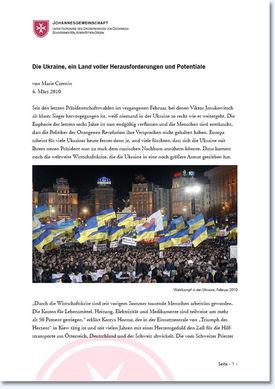Abbildung des Berichtes aus der Ukraine
