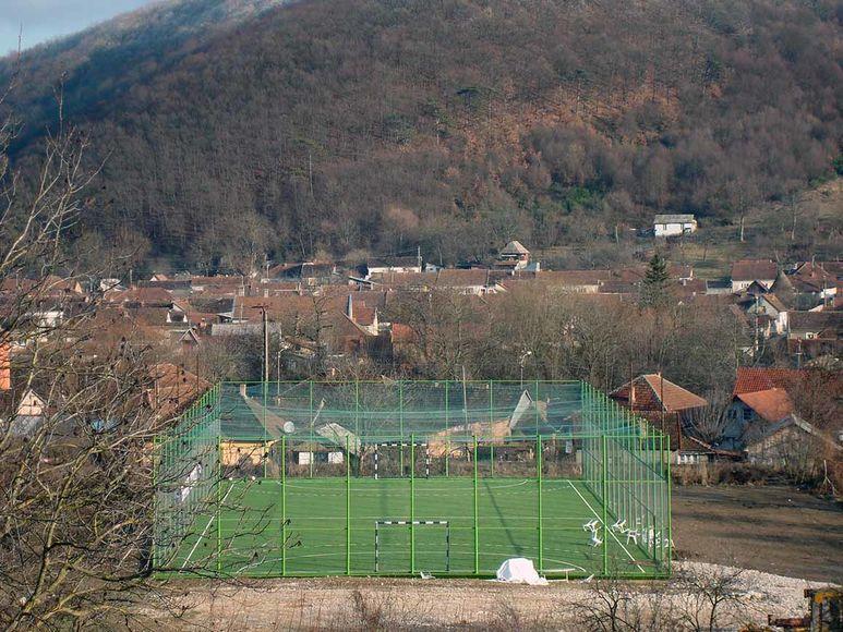 Gelände mit dem neuen Sportplatz