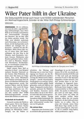 Abbildung des Artikels aus der Wilerzeitung