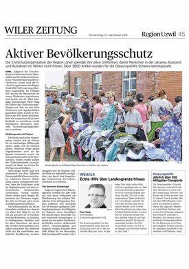 Abbildung des Artikels aus der Wiler Zeitung