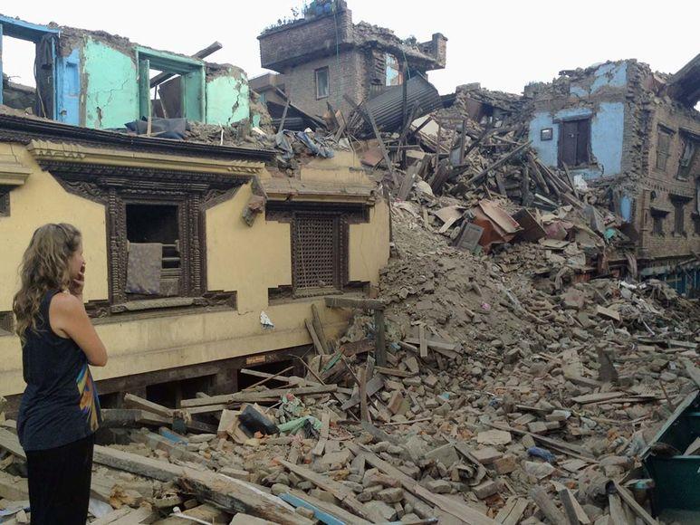 Komplett zerstörte Häuser