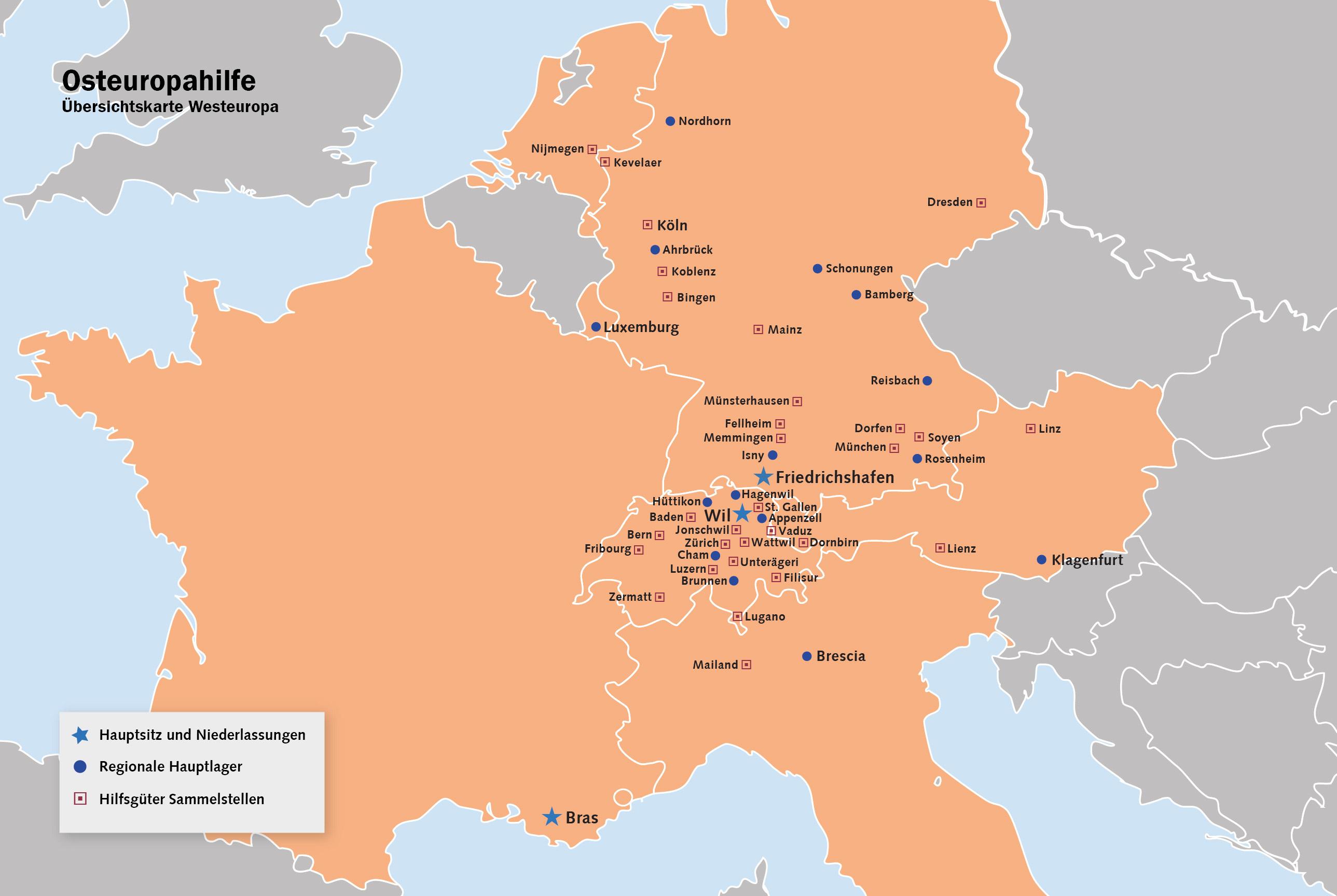 Karte Deutschland österreich.Organisation Osteuropahilfe