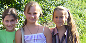 Kinder des Kinderzentrums Novoje
