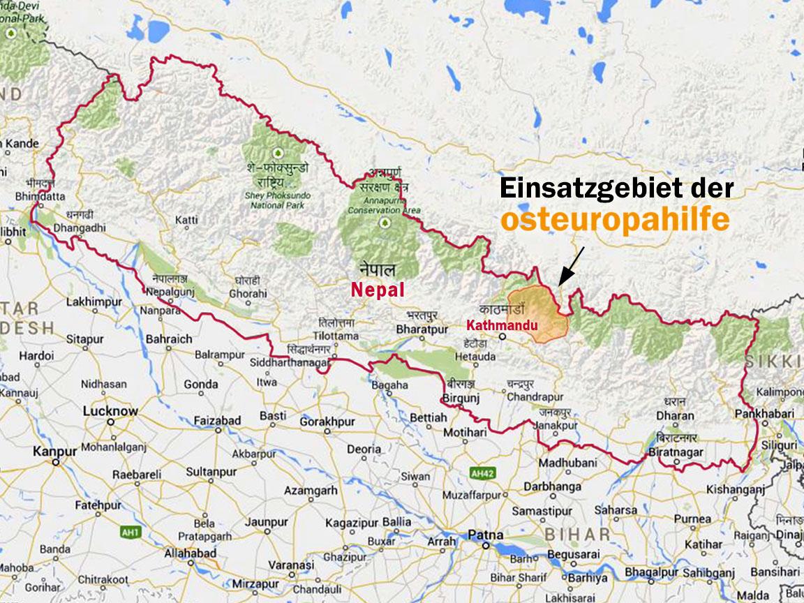 Übersichtskarte Nepal